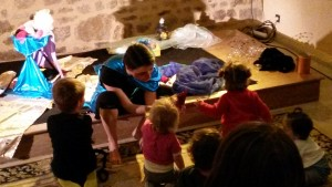 Recontre à la fin du spectacle Mini-Festival des Contes en Cotentin